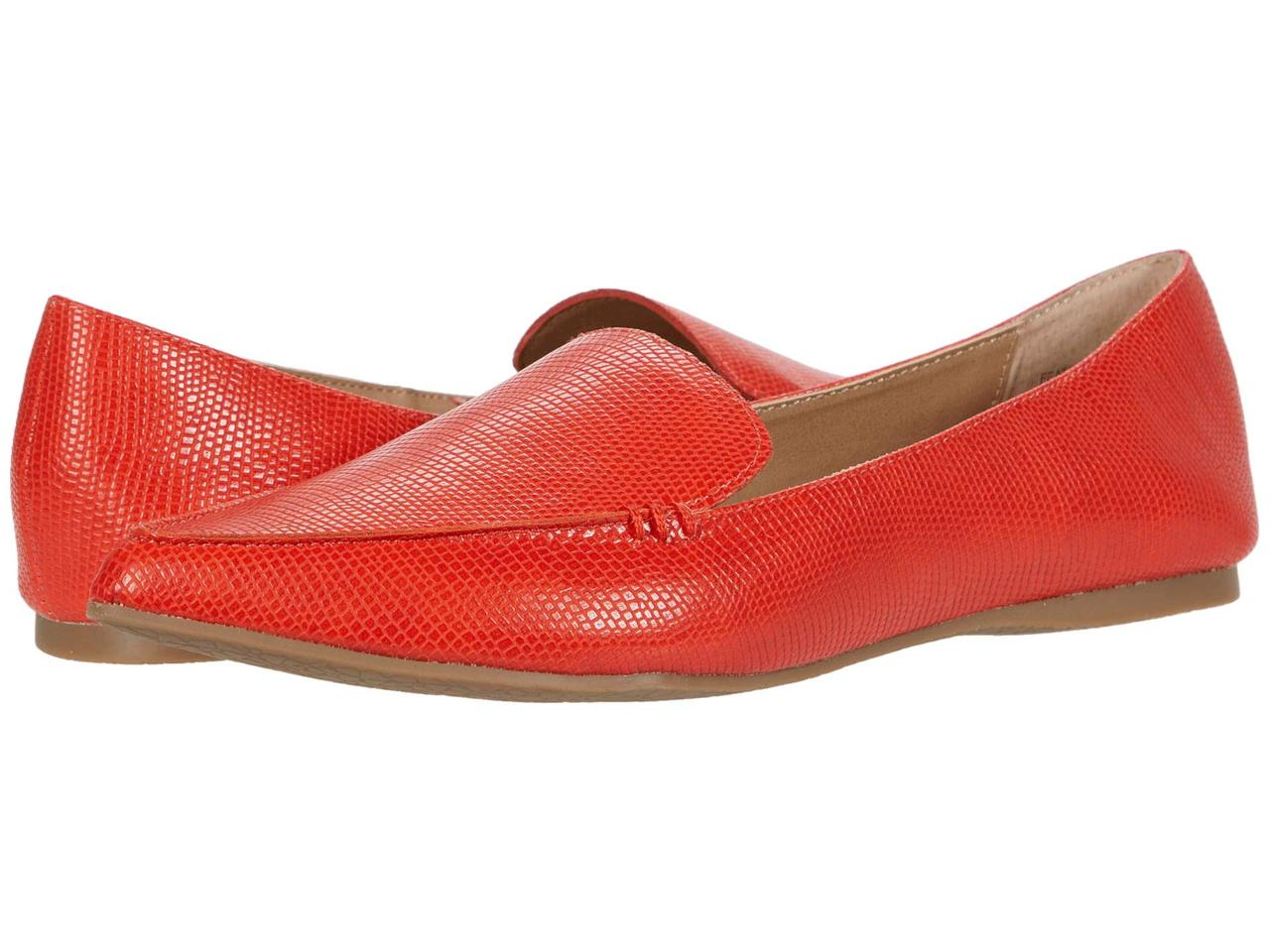 Мокасины (Оригинал) Steve Madden Feather Loafer Coral Lizard