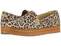 Мокасины (Оригинал) TOMS Palma Leather Wrap Desert Tan Leopard Print Suede, фото 1