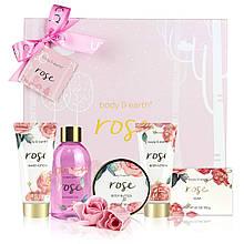 Подарочный набор Спа-косметики для тела с маслом розы BODY & EARTH Оригинал из Англии