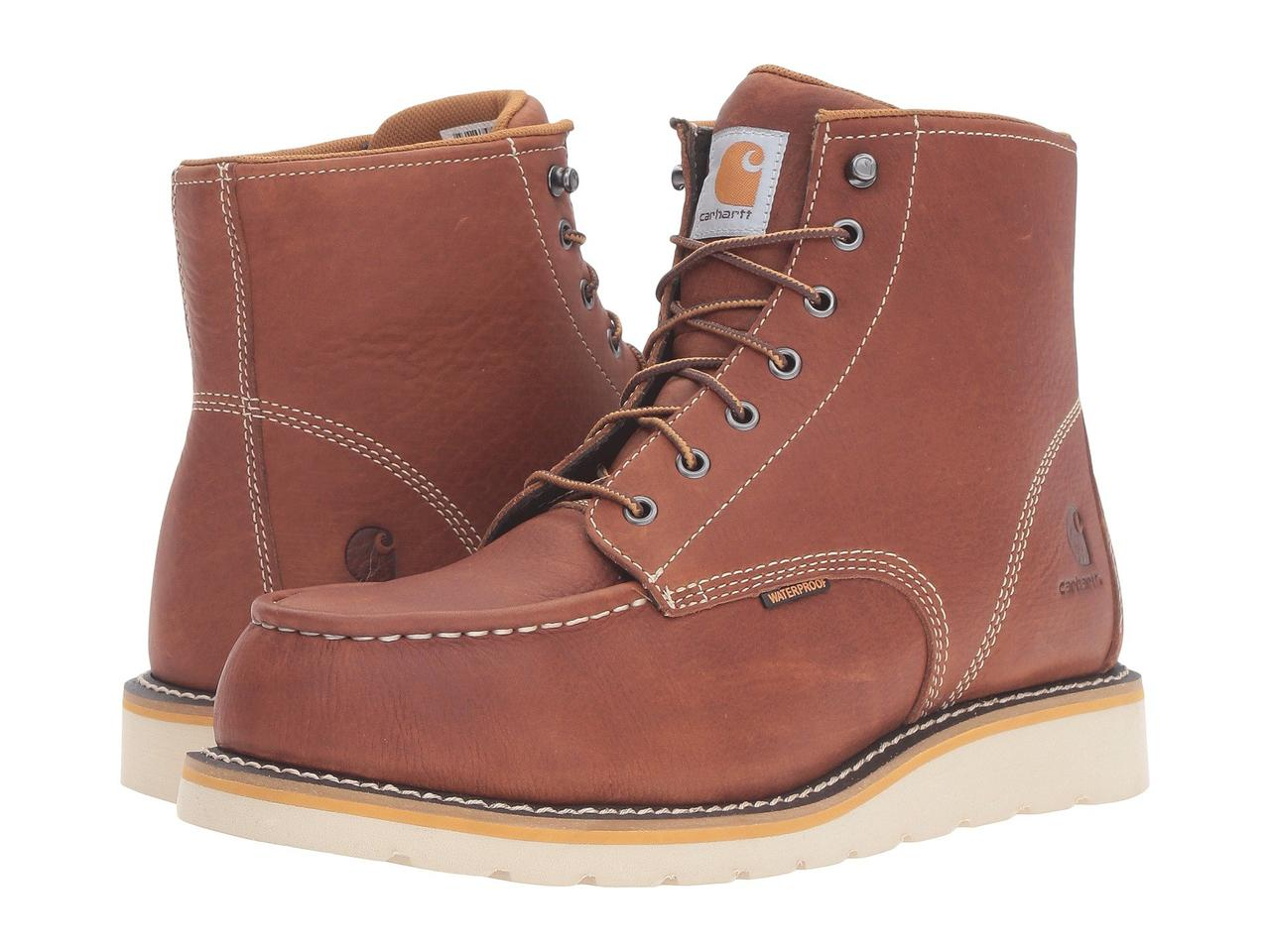 "Ботинки/Сапоги (Оригинал) Carhartt 6"" Steel Toe Waterproof Wedge Boot Tan Oil Tanned Leather"