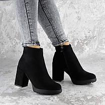 Женские ботинки на каблуке Shelby черные 1451 (40 размер), фото 3