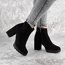 Женские ботинки на каблуке Shelby черные 1451 (40 размер), фото 2