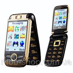 Мобильный телефон H-Mobile V998 (BLT V998) gold. Dual color screen. Flip