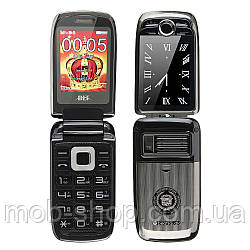 Мобильный телефон H-Mobile V998 (BLT V998) black. Dual color screen. Flip
