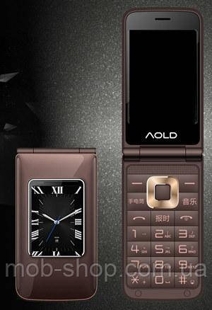 Мобильный телефон H-Mobile A7 (AOLD A7) brown. Dual color screen. Flip
