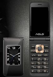 Мобильный телефон H-Mobile A7 (AOLD A7) black. Dual color screen. Flip