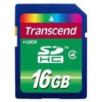 Карта памяти Transcend SDHC 16Gb class 4 USB