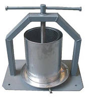 Пресс Винница ХлебПром 10 л ручной для отжима сока из яблок винограда винтовой с кожухом (соковыжималка)