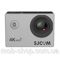 Туристическая Экшн камера Action Camera SJCAM SJ4000 AIR 4K silver для погружения большой комплект