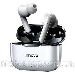 Навушники безпровідні Lenovo LP1 silver Bluetooth навушники з блютузом