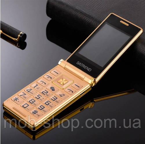 Мобильный телефон Tkexun A15 (Satrend A15, Dsfen A15) gold. Flip