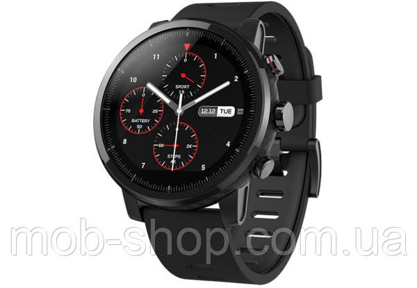 Смарт годинник Xiaomi Amazfit Stratos black розумний годинник для смартфону Android IOS Bluetooth