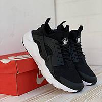 Мужские кроссовки Nike Air Huarache Black / Найк Аир Хуарачи Черные