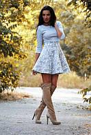 """Короткое приталенное платье """"Lolly"""" с расклешенной юбкой (6 цветов)"""