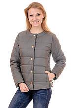 Женская демисезонная куртка IRVIC 44 Оливковый (IrC-FK135-44)