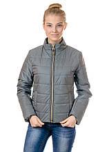 Женская демисезонная куртка IRVIC 46 Оливковый (IrC-FZ155-46)