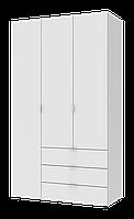 Шкаф 3-х дверный Гелар 1162х495х2034 ДСП Белый
