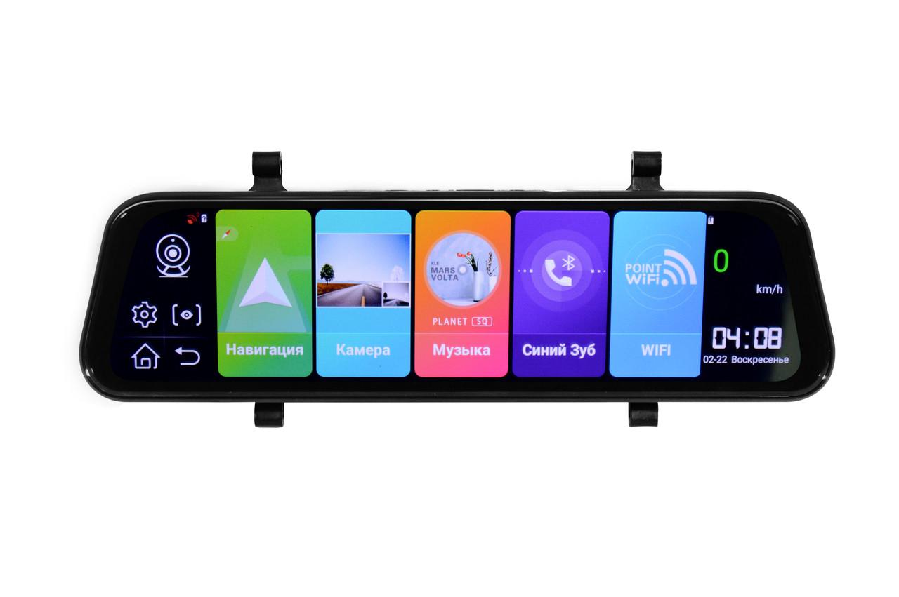 """Зеркало видеорегистратор K40 10"""" Android 1/8 Сенсорный экран GPS + ПОДАРОК!"""