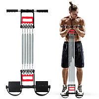 Пружинный эспандер 3 в 1 для силовых тренировок 5 пружин / Эспандер плечевой, кистевой, для пресса