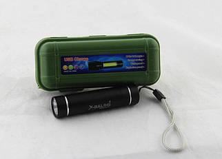 Яскравий мініатюрний ліхтарик BL 517 Зарядка через USB провід Вага: 33 г
