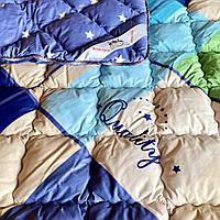 Одеяло зимнее шерстяное ОДА  Двуспальное 175x215 | Овечья шерсть, чехол 100% хлопок | Вовняна ковдра ODA