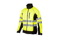 Рабочая сигнальная куртка с светоотражающими полосами Softshell Sizam Southhampton S-3XL лимонная, фото 1