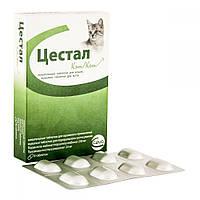 Цестал кет (Cestal cat ) - для котів, зі смаком печінки, 1таблетка ( Ceva, Угорщина)