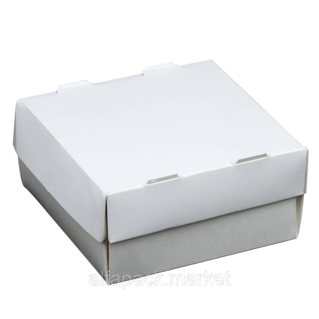 Одноразова картонна упаковка для суші біла (100 шт в упаковці) 010400073
