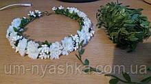 Белый веночек с цветами Нежный регулируемый ободок с цветами для женщин и девочек