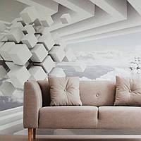 Фотообои виниловые на флизелине расширяющие пространство стена уходящая в даль