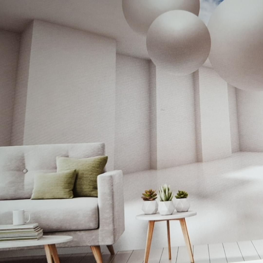 Фотообои виниловые на флизелине расширяющие пространство стена потолок уходящие в даль