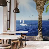 Фотообои виниловые на флизелине расширяющие пространство вид на море горы