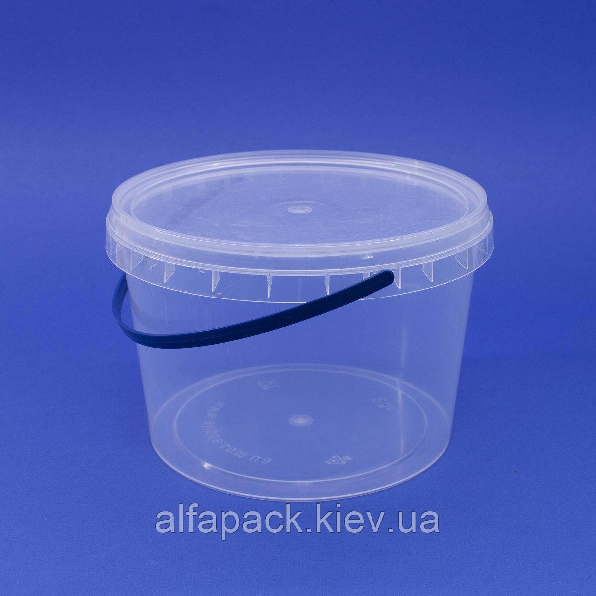 Ведро пластиковое 2,3 л, 100 шт.
