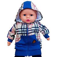 Кофта для хлопчика на блискавці 68-86 (6-18м.) З капюшоном 2799                                     , фото 1