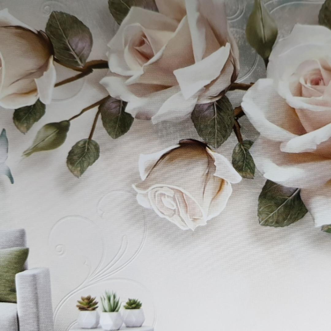 Фотообои виниловые на флизелине цветы розы