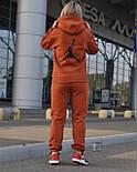 Женский теплый спортивный костюм трёхнить c начесом худи и штаны на манжете, фото 3