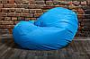 Голубой бескаркасноый Кресло мешок 160x130 XXL, фото 2