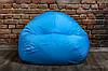 Голубой бескаркасноый Кресло мешок 160x130 XXL, фото 4