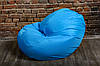 Голубой бескаркасноый Кресло мешок 160x130 XXL, фото 7