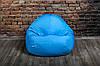 Голубой бескаркасноый Кресло мешок 160x130 XXL, фото 9