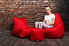 Кресло мешок груша пуф (набор) Красный, фото 5