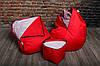 Кресло мешок груша пуф (набор) Красный, фото 7