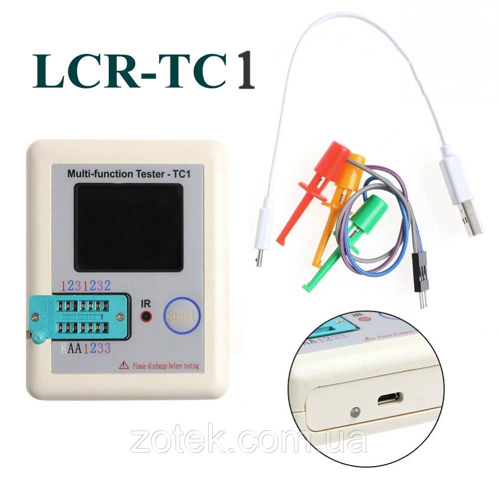 LCR-TC1 Тестер електронних компонентів радіодеталей, транзисторів LCR ESR метр, транзистор тестер