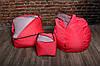 Розовый набор мягкой бескаркасной мебели (кресло мешок груша, диван, пуф), фото 3