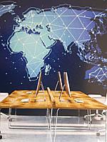 Фотообои виниловые на флизелине карта мира, фото 1