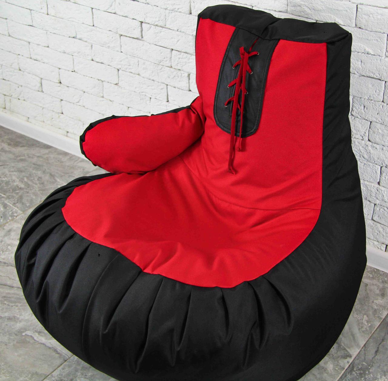 Бескаркасное Кресло мешок груша пуфик  XL (120х75) боксерская груша перчатка