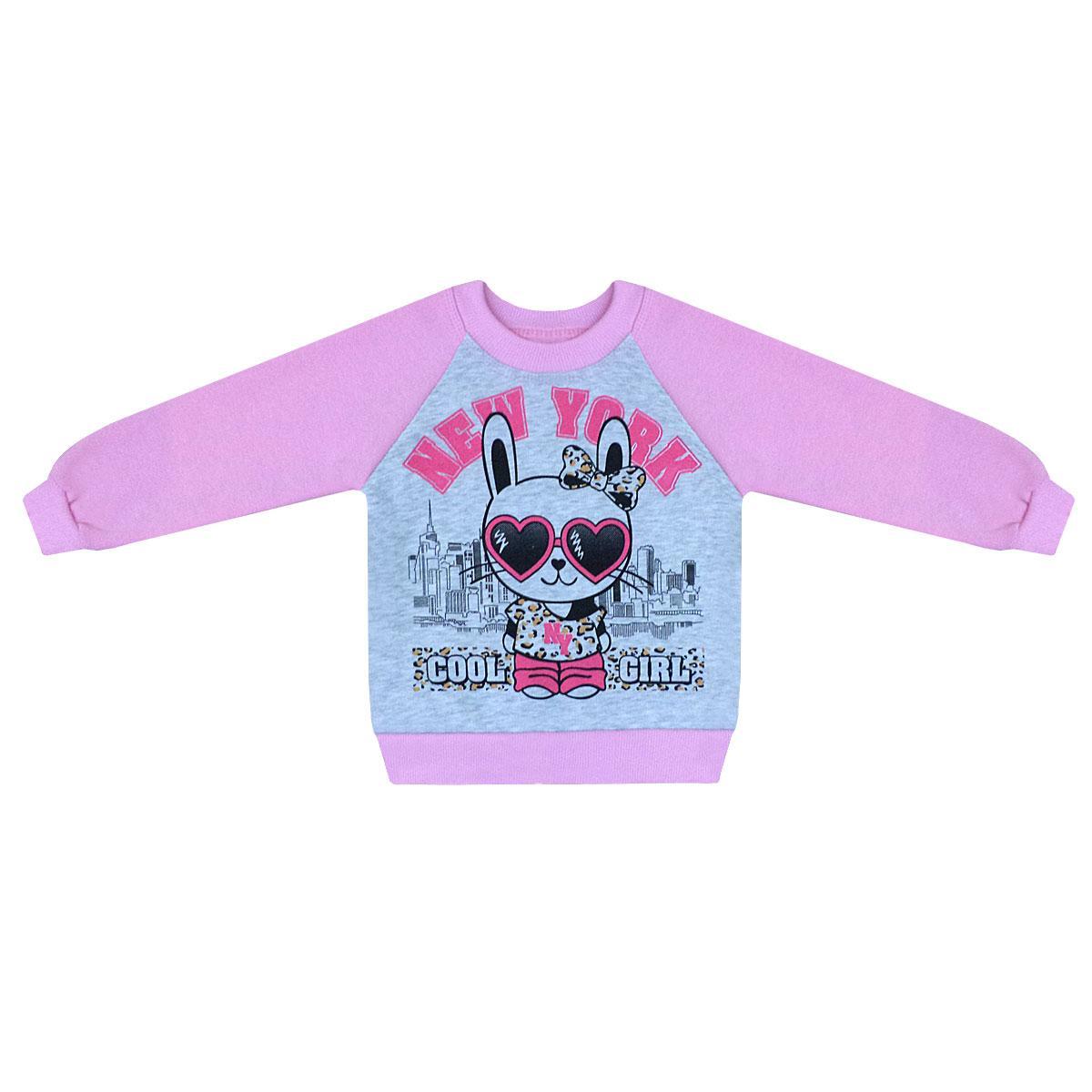 Детский реглан для девочки  Cool Girl на 2-5 лет трехнитка