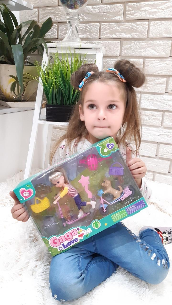 Игровой набор кукла на скейте с животными