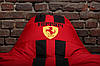 Красное Бескаркасное кресло мешок диван Ferrari, Феррари с логотипом, фото 5
