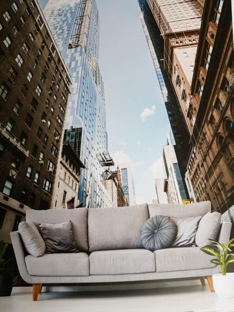 Фотообои виниловые на флизелине города улицы дома небоскребы дороги мосты